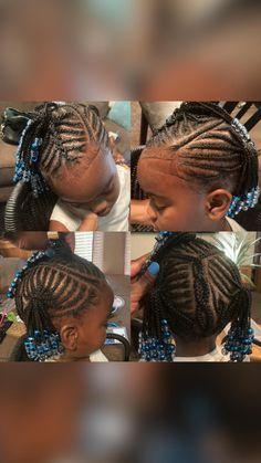 Kids Cornrow Hairstyles, Black Kids Hairstyles, Little Girl Hairstyles, Children Hairstyles, Braids For Kids, Kid Styles, Cornrows, Dreadlocks, Kid Hair