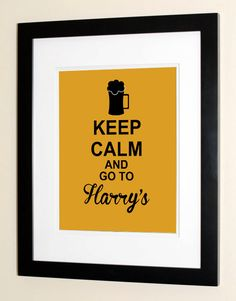 Keep Calm And Go To Harry's - Purdue Campus Bar Poster - Purdue Alumni Gifts. $15.00, via Etsy.