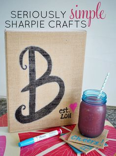 Easy burlap home decor with Sharpie Paint Markers! #PaintYourWay #pmedia #ad