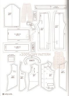 free printable ken doll clothes patterns - Google Search