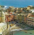See the orangy-red building in the middle? Jay & I slept there!  Window facing the water.  The Cinque Terre is an amazing place.  Check out Rick Steves travel guides.