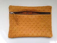 100 Italian Embossed Leather clutch Golden Klutch by KlutchIt $175