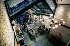 Image 15 of 29 from gallery of Brewman Coffee Concept / 85 Design. Photograph by To Huu Dung Cafe Bar, Cafe Restaurant, Restaurant Ideas, Amazing Architecture, Interior Architecture, Interior Design, Small Coffee Shop, Concrete Interiors, Men Coffee