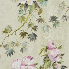 Floreale by Designers Guild - Natural - Wallpaper : Wallpaper Direct Scenic Wallpaper, Fabric Wallpaper, Cool Wallpaper, Designers Guild Wallpaper, Designer Wallpaper, Free Wallpaper Samples, Tricia Guild, White Peonies, Prints