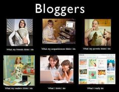 A blog post on blogging.  #hilarious #bloggers