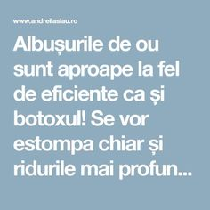 Albușurile de ou sunt aproape la fel de eficiente ca și botoxul! Se vor estompa chiar și ridurile mai profunde. Good To Know, Anti Aging, Remedies, Health Fitness, Hair Beauty, Eyes, How To Make, Face Masks, Facial Masks