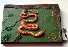 Polyclay Journal Cover, Fimo Buchdeckel