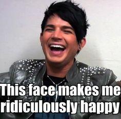 Adam Lambert Laughing i <3 <3 <3 <3 his laugh