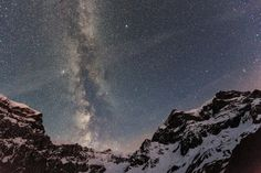 Image: The Milky Way is seen between the Biferstock, the Piz Urlaun and the Toedi mountains above Linthal, Switzerland, in the early morning hours of June (© Arno Balzarini/EPA) Wish I Was There, Arno, Forest Park, Milky Way, Stargazing, Science Nature, Switzerland, Natural Beauty, Northern Lights