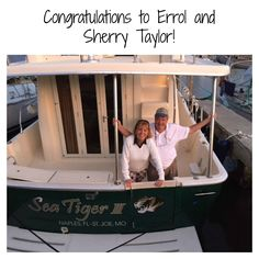 """Congratulations to Errol and Sherry Taylor on completing the Great Loop! After 171 days of cruising on their 40' Mainship Trawler, """"SeaTiger III,"""" they crossed their wake on October 13, 2015."""