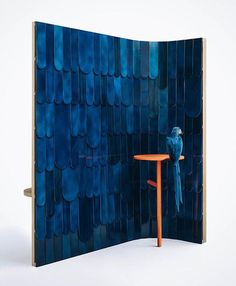 grégoire de lafforest + mireille herbst's ARA screen takes influence from the macaw parrot Partition Screen, Divider Screen, Screen Design, Wall Design, Dressing Screen, Outdoor Pendant Lighting, Retail Design, Decoration, Interior Architecture