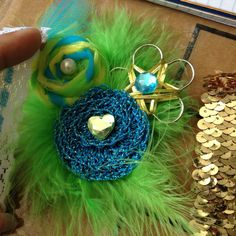 I use the gold sequin for this headband and it turned out amazing!!!! Headpiece done by me! If you want one of my pieces contact me at www.etsy.com/Unikbaby and in Facebook.com/Unikbaby