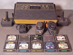 My first video game system as a child. The Atari I remember when I was a little boy playing this for hours sitting on my living room floor in my PJ's. My Childhood Memories, Childhood Toys, Sweet Memories, Cow Girl, Cow Boys, Retro Toys, Vintage Toys, Vintage Games, Vintage Stuff