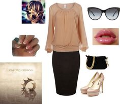 """Church Outfit :)"" by raelynechavez ❤ liked on Polyvore"