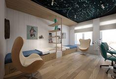 Pokój dla dwóch chłopców - Architektura, wnętrza, technologia, design - HomeSquare
