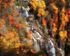 Upper Whitewater Falls is on the North Carolina/South Carolina Border between Walhalla, SC and Cashiers, NC - officially in North Carolina.