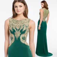 Celebrate St. Patty's day with a gorgeous new dress lass!  ✨ Shop this emerald beauty! #camillelavie #CLVprom