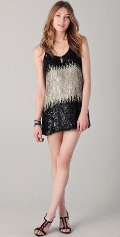 sparkly statement dress
