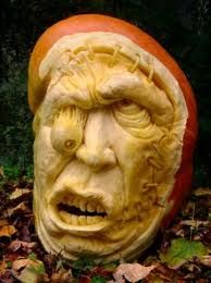 3D Carving Grotesque Pumpkin
