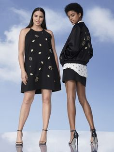 Victoria Beckham for Target Embellished bug dress, $60, and embellished bug bomber jacket, $70