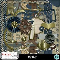 My Guy kit Confirmation Page, Page Borders, Photo Corners, Heart Images, Star Stitch, Film Strip, Digital Scrapbook Paper, Paint Shop, Photoshop Elements