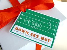 This football favor tag by Ellison Reed is perfect for any football party! Find the favor tags at www.ellisonreed.etsy.com #football #birthday #party #favor #sports #printable #custom #DIY