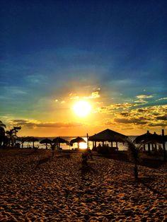 Sunset at Palmas lagoon