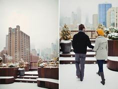 Even in the winter the Chicago skyline is still stunning from Lightology's rooftop garden.