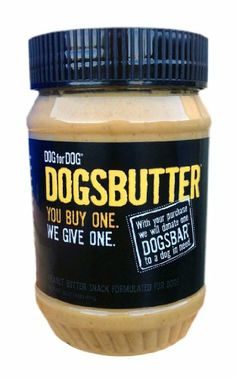 DOG for DOG Dogbutter Original Peanut Butter with Flaxseed for Dogs, 16-Ounce - http://www.thepuppy.org/dog-for-dog-dogbutter-original-peanut-butter-with-flaxseed-for-dogs-16-ounce/