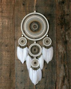 Large natural color dream catcher made by order for girl Dream Catcher Decor, Dream Catcher Mobile, Large Dream Catcher, Dream Catcher Boho, Indian Arts And Crafts, Diy And Crafts, Bohemian Style Home, Dreamcatchers, Crochet Dreamcatcher