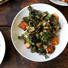 Baked Tofu with Coconut Kale Recipe on Food52 recipe on Food52