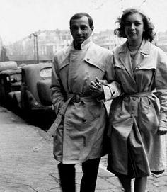 Charles Aznavour et Marie Dubois en 1960