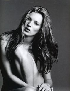 W, September 1993 Kate Moss by Michael Thompson