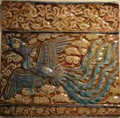 Tile, Persia, Kashan, early 14th cent., Ilkhanid period, Gulbenkian Museum, Lisbon https://farm8.staticflickr.com/7383/16402261266_860d8bfe71_h.jpg