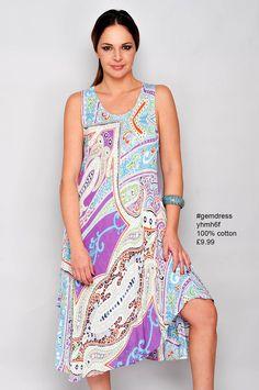 sleeveless cotton #gemdress yhmh6f £9.99