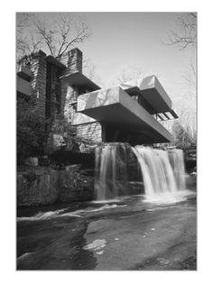 Fallingwater. Frank Lloyd Wright. 1936-1939, Mill Run, Pennsylvania. Over bear run waterfall.