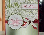 Set of 4 Handmade Christmas Cards - Stampin Up Winter Post