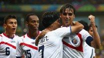 FIFA World Cup 2014 (Match 52). Costa Rica vs Greece:  Bryan Ruiz guides Costa Rica into first World Cup quarter final by making Costa Rica win 5-3 on penalties after a 1-1 draw.