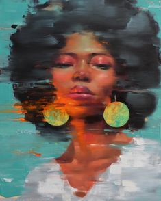 "Reflection"" oil on canvas cm. Black Women Art, Black Art, Human Painting, Modern Portraits, Abstract Faces, Afro Art, African American Art, Art Studies, Conceptual Art"