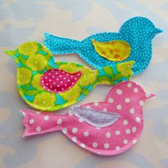 Fabric Applique Birdies by Laurie Star,