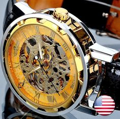 Mechanical Watch Men's wristwatches Steampunk by pyramidboutique, $25.00  I got one of these!!