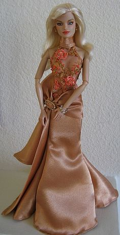 fashion doll, red carpet look, Vero by Juan in ovaz gown