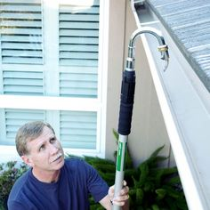 Gutter Cleaner Wand 58582 Rain Gutter Cleaning Device The Effective Pictures We Offer You About Dog toilet area yards A quality picture can tell you many things. You can find the most beautiful pictur Car Cleaning Hacks, Bathroom Cleaning Hacks, Toilet Cleaning, House Cleaning Tips, Rain Gutter Cleaning, Copper Gutters, Dog Toilet, How To Install Gutters, Pest Control