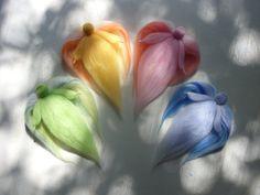 Wool Fairies Set of 4 Waldorf Angels of Seasons by InmeziGarden