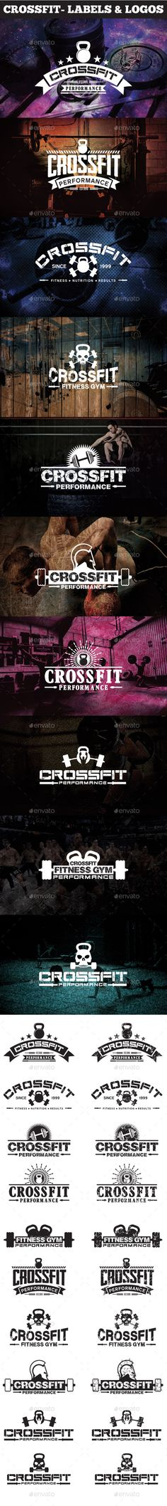 Crossfit- Labels & Logos Design. Download: http://graphicriver.net/item/crossfit-labels-logos/11426694?ref=ksioks