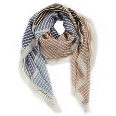 Dashwood Stripe cashmere scarf, Ascher London
