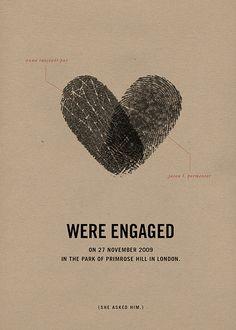 adorable engagement announcement