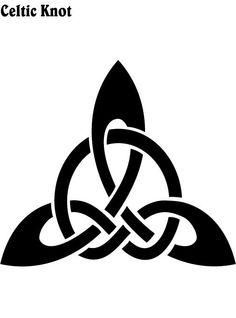 Black Celtic Knot Tattoo Design