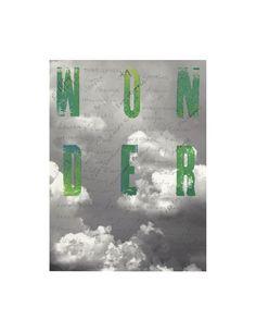 #socialques Wonder.  letterpress, graphite, on giclee print