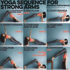 YOGA SEQUENCE FOR STRONG ARMS This sequence is all about holding, most yoga poses require a lot of holding on so why not…